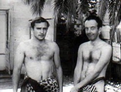 "Dennis Hopper (at left) filming ""Tarzan and Jane Regained . . . Sort of"""