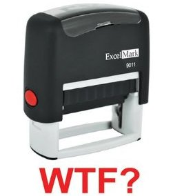 WTF? Rubber Stamp
