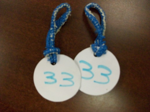 Homemade Coat Check Tags