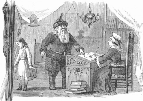 here is an illustration from Lill's Travels in Santa Claus Land and Other Stories. We can see Santa, Mrs. Santa, but who is that little girl on the left? Is she Lill or somebody else?