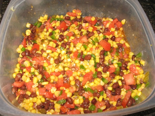 My black bean and corn salad.