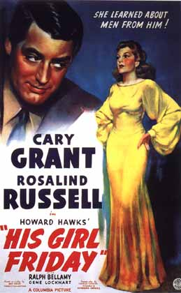 Poster for Howard Hawk's His Girl Friday