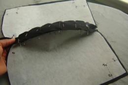 Step 2 - Secure zipper to fabric.