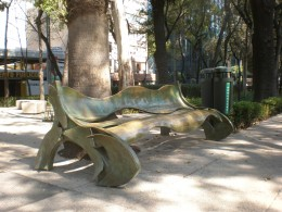 Street Art Exhibit G: Galactic Bench. Visit Mexico and Interact with its Urban Art.