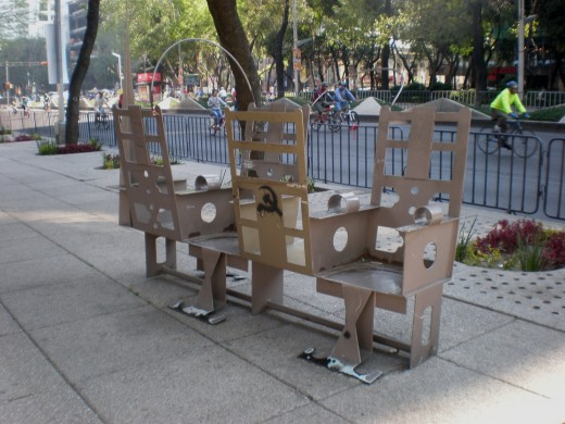 Street Art Exhibit C: Musical Chairs. Visit Mexico and Interact with its Urban Art.