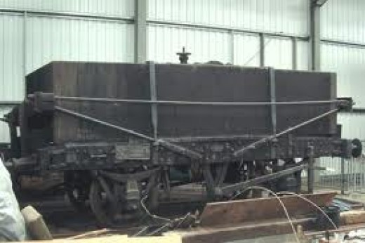 early North British rectangular tar wagon - every privately owned tar producing company had fleets of these, and you could see them attached to trains around industrial centres or works