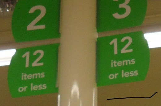This means 1-12 items - NO MORE