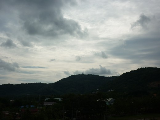 Little Buddha, taken from the top of a Temple at Wat Chalong several miles away !!