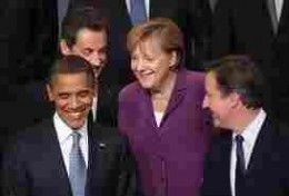 From left.  Obama, Sarcozy,(rear) Merkel and Cameron
