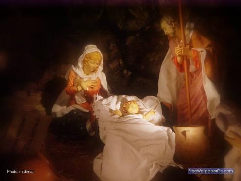 Proper nativity scene