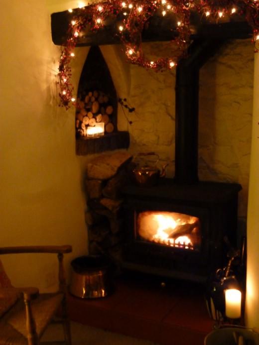 A Christmas fireside ...