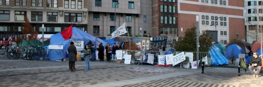 The tents of Occupy Boston