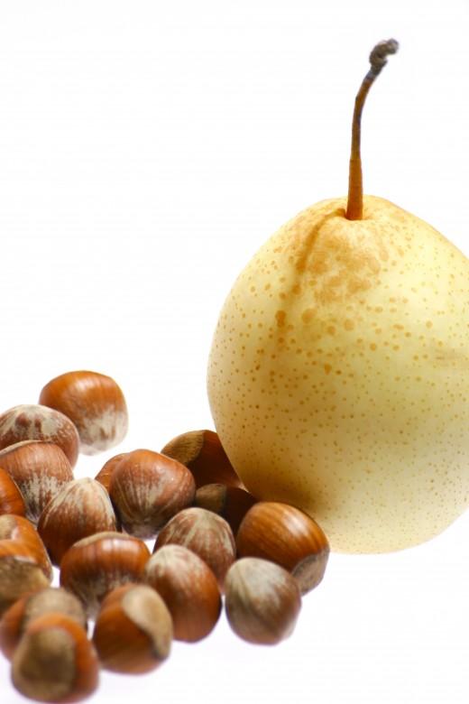 Hazelnuts and Pear