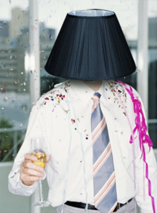 THIS IS AN ALWAYS-FUNNY GAG AT PARTIES. ALL 'LIVES OF THE PARTY' DO THIS WITH LAMPSHADES.