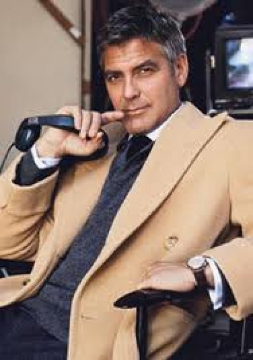 Handsome, older, mature, distinguished George Clooney.