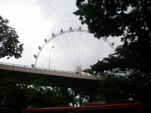Singapore Flyer seen in the distance.