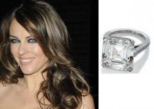 Elizabeth Hurley's engagement ring from ex-Husband Arun Nayar