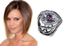 Victoria's Engagement ring from David  Beckham