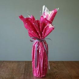 Chocolate milk bath mix - decorative gift wrap