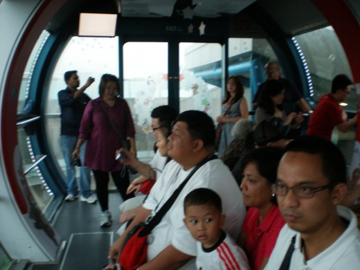 Situation inside the flyer capsule.