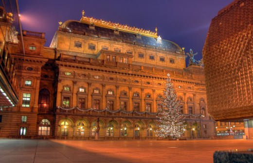 Christmas Tree in National Theatre, Prague