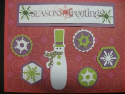 Easy to Make Christmas Card Cricut and Stamping