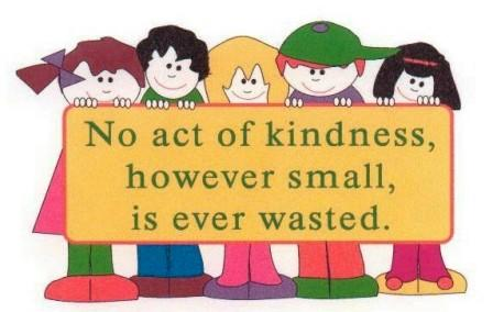 Showing kids how to be kind givers.