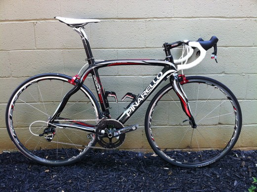 The beautiful wavey lines of the Pinarello Dogma