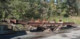 Bogie wagon frame abandoned
