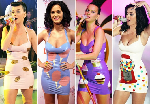Katy Perry in pretty latex minis