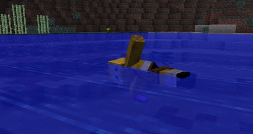 Freestyle swimming with the Minecraft smart moving mod.