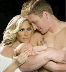 Kim, Kroy, and their baby boy