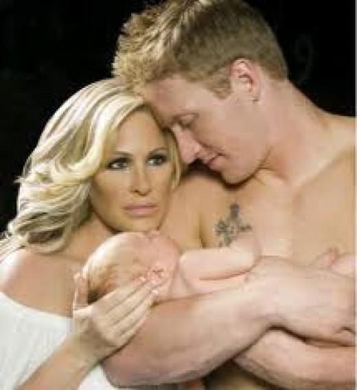 Kim, Kroy, and their baby boy