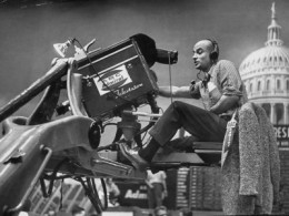 Man Operating Television Camera, by Al Fenn