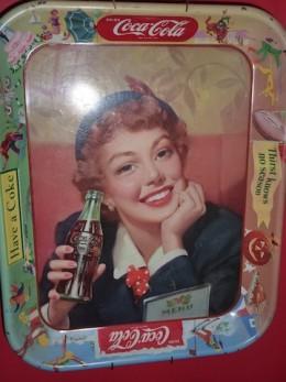 An cold coke tray circa 1950's