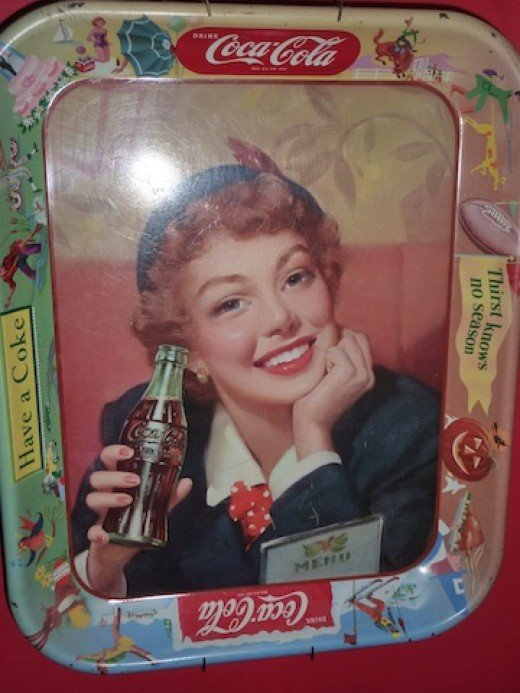 An cold coke tray circa 1950's