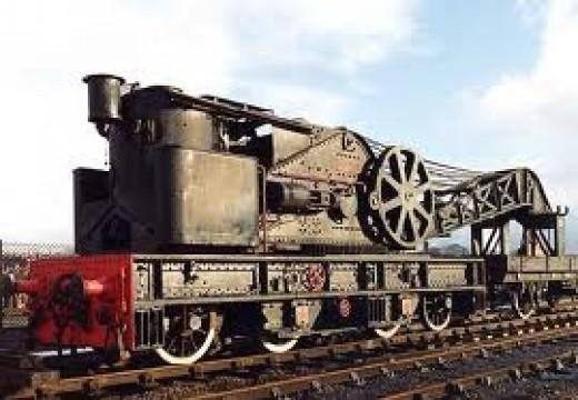 Former NER Steam Crane in BR use ...