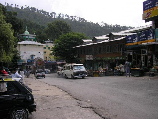 A small village on the road to Murree