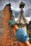 Detail of the roof of the Casa Batllo