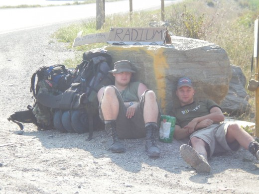 This is what NOT to do. Me and my brother learned the hard do's and don'ts of hitchhiking - after being stuck for two days in Golden, BC.