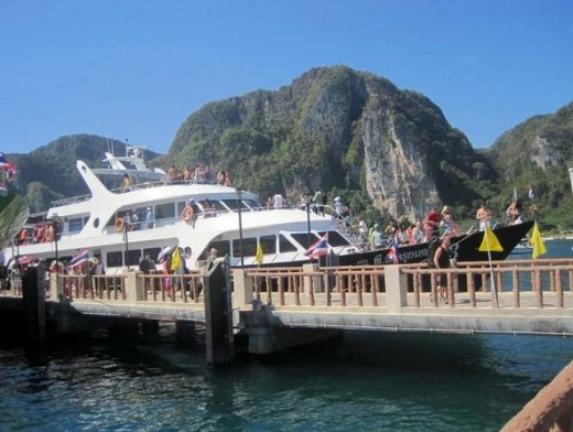 Our ferry docked at Phi Phi