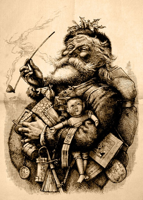 T. Nast illustration of Santa.