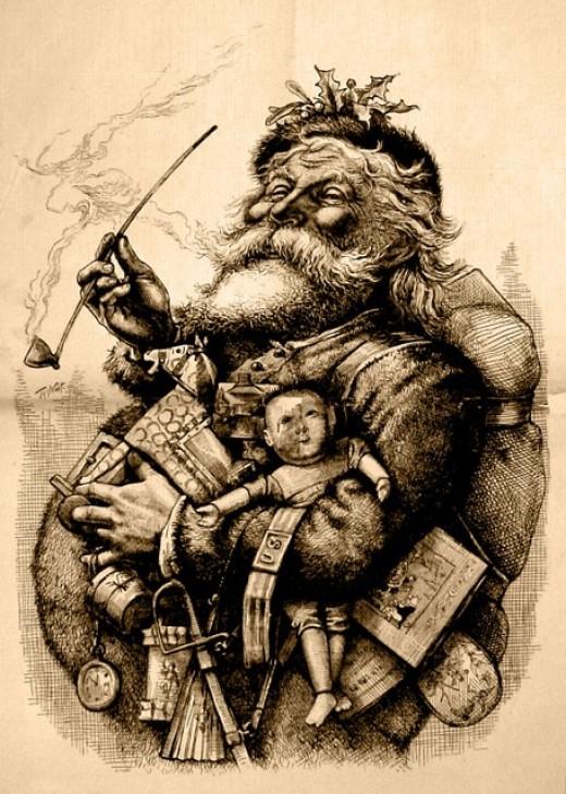 T. Nast illustration of Santa.
