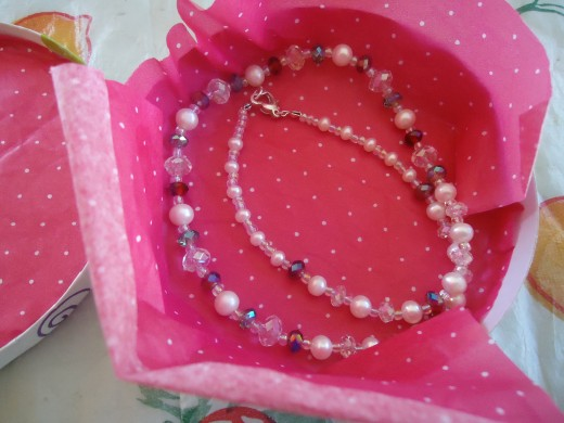 Pearl, Crystal, and Seed Bead Necklace with All Sterling Silver Findings