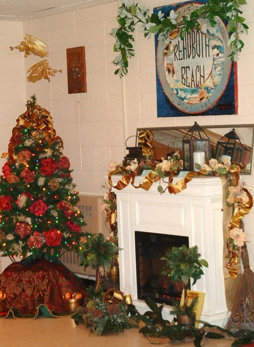 Tree and hearth exhibit at the Rehoboth Beach Convention Center Delaware Hospice Festival of Trees.