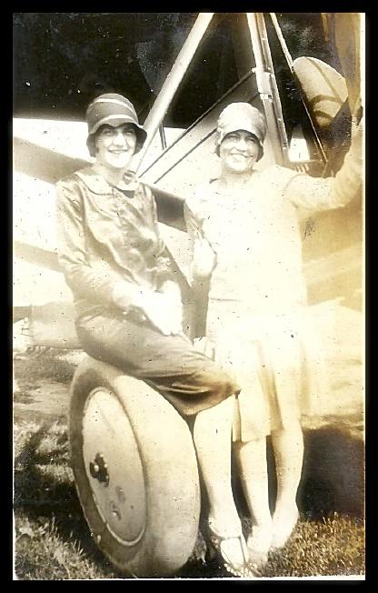 Bernie Harlen (standing) and an unknown friend