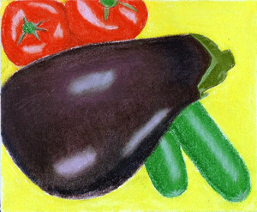 Eggplant and Tomatoes are members of the Nightshade family of plants.