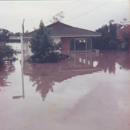 1974 floods more covered the house