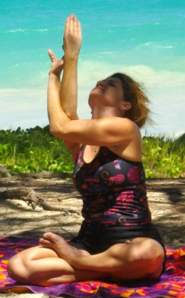 Sounds of surf make yoga oceanside deeply relaxing.