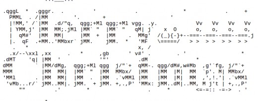 Santa and sleigh for christmas in ascii text art hubpages for Ascii text decoration